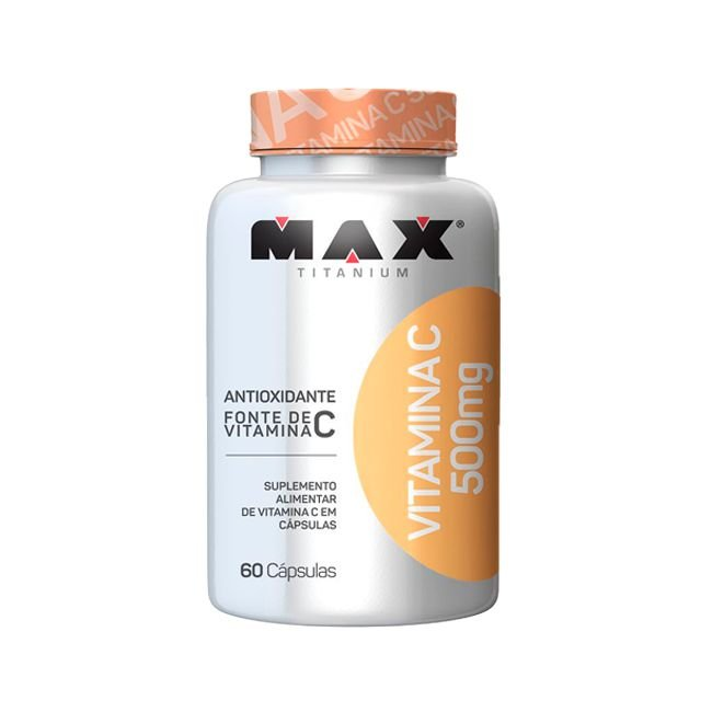 Vitamina C 500mg - 60 Cápsulas - Max Titanium