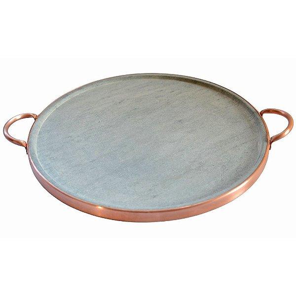 Forma de pizza em pedra sabão