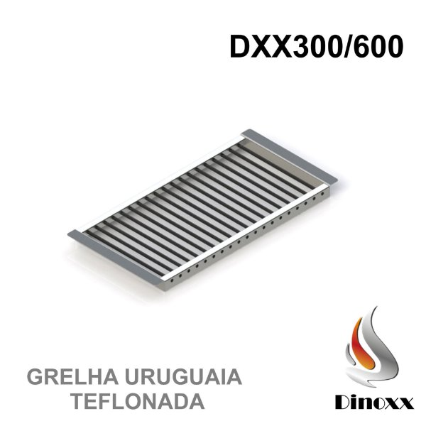 Grelha Uruguaia (opcional) para churrasqueira DXX 300/600 - TEFLONADA - DINOXX