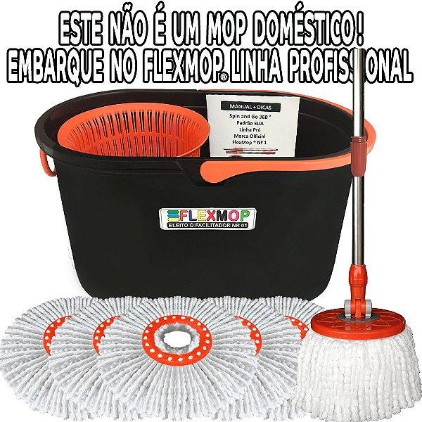 Spin Mop 360, Esfregão Profissional (Linha Pró) Mega Promo Refil para 01 Ano Padrão USA FlexMop