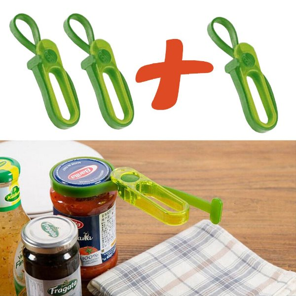 Pague 2 Leve 3 Abridores Potes, Compotas, Conservas Bottle Openers® Cor Verde