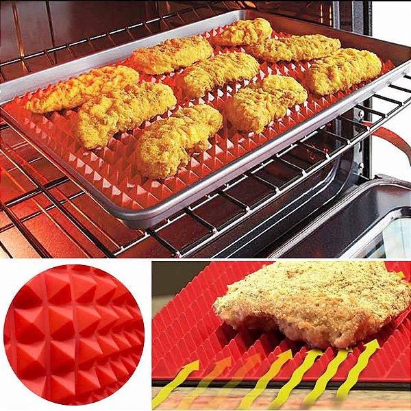 Forma de Silicone Original Pyramid Pan© Silicone Cooking - Vermelha