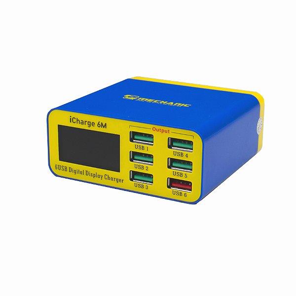 Carregador USB Medidor De Corrente E Tensão Mechanic 6P
