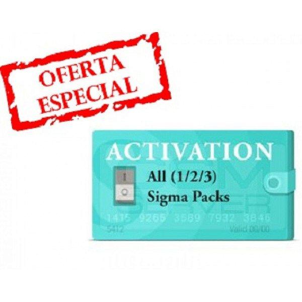 Ativação Sigma Pack 1 + Pack 2 + Pack 3