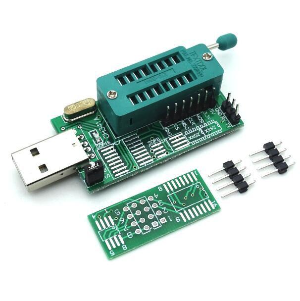 Gravador De Eeprom Bios Ch341A 24 25 Flash Bios Dvd USB Com Adaptador