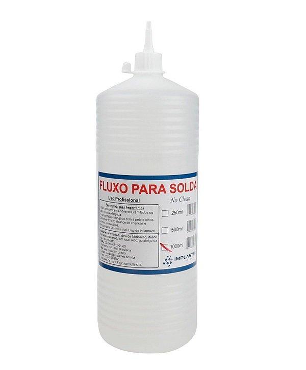 Fluxo De Solda Liquido Incolor Implastec 1 Litro No Clean Isopropanol