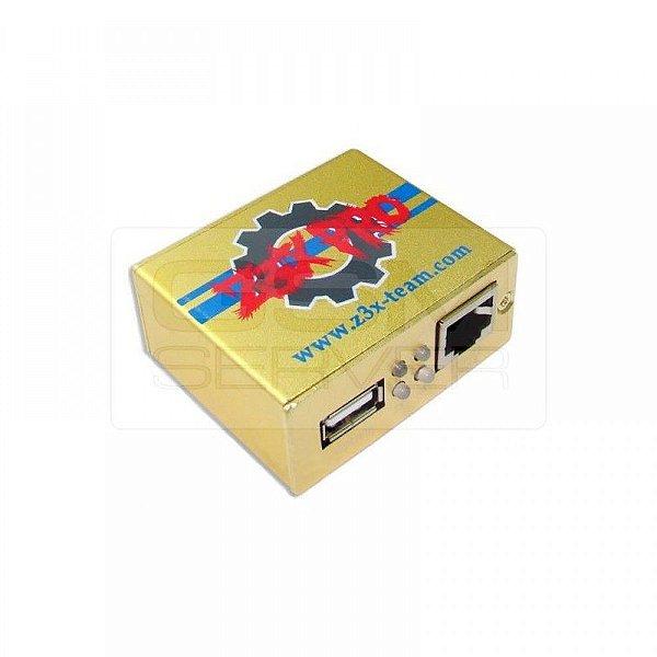 Z3X Box Pro Samsung Edição Dourada Ativada Com Conjunto De Cabos 4 Pcs