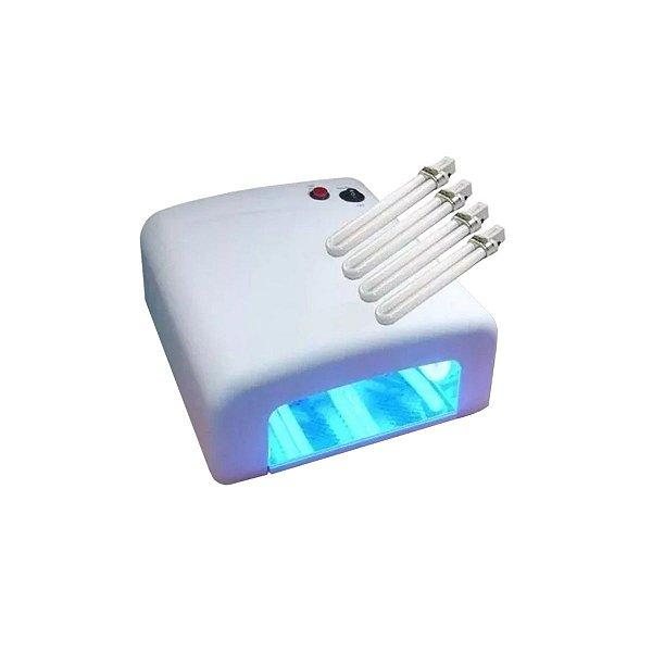 Estufa 4 Lampadas UV 9w 110v Para Secagem De Cola UV