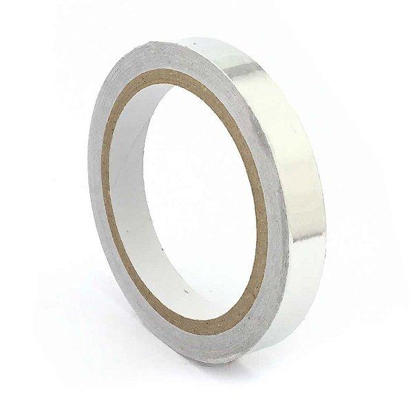 Fita Termica Aluminio Alta Temperatura 15mm Rolo 30Mts