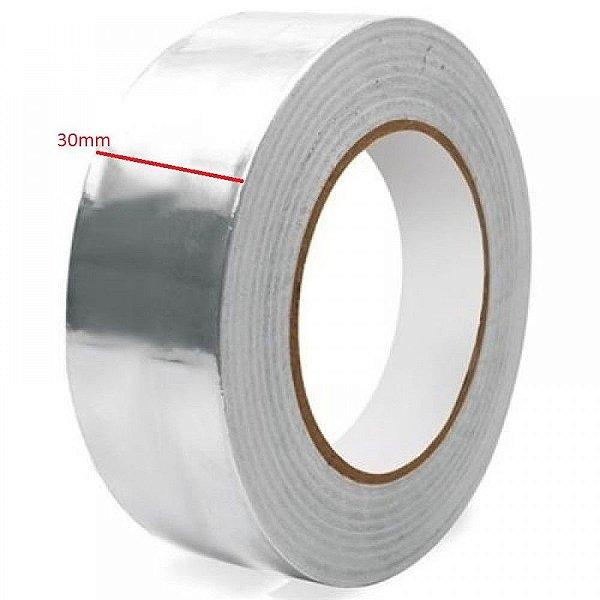 Fita Termica Aluminio Alta Temperatura 30mm Rolo 30Mts