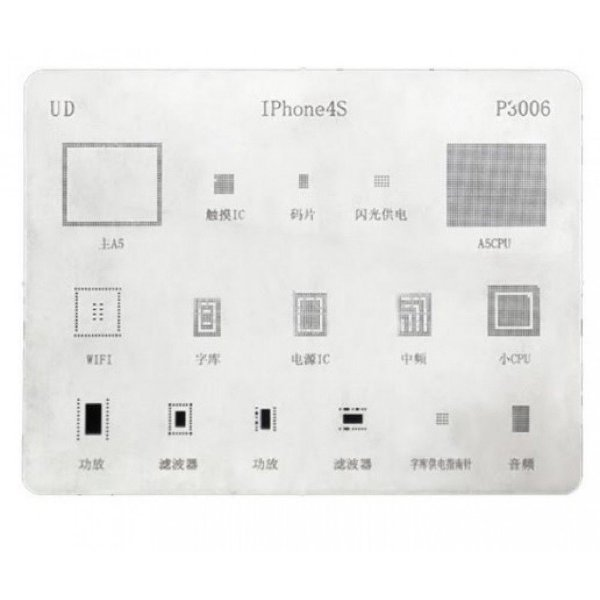 Stencil Para Reballing E Bga Iphone 4S
