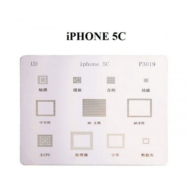 Stencil Para Reballing E Bga Iphone 5C P3019