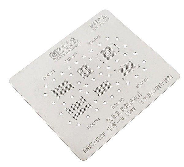 Stencil Emmc Emcp 0.15mm Bga 221 153 169 254 162 186