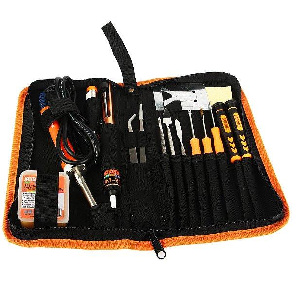 Kit Ferramentas Solda Eletrônica 30w Jakemy JM P04 23 Peças