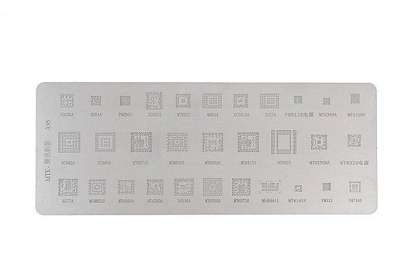 Stencil Para Reballing E Bga A95 Mtk