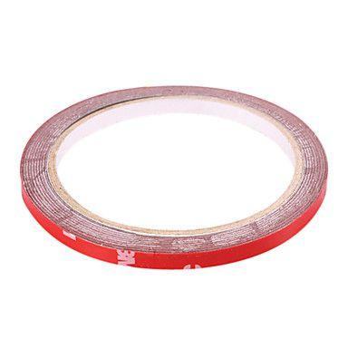 Fita Adesiva Dupla Face De Espuma Foam 3mm 3M Vermelha