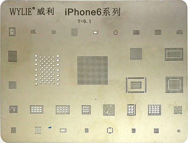 Stencil Wylie Para Reballing E Bga Iphone 6