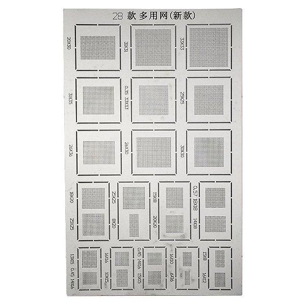 Stencil Universal BGA 28