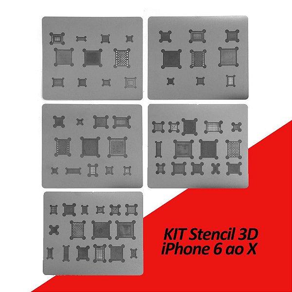 Kit Stencil 3D iPhone 6 ao X