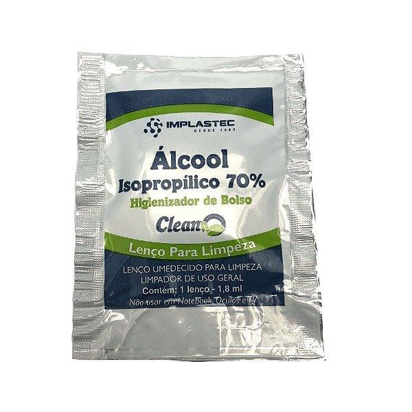Sache Lenço Umedecido Implastec Alcool Isopropílico 70%