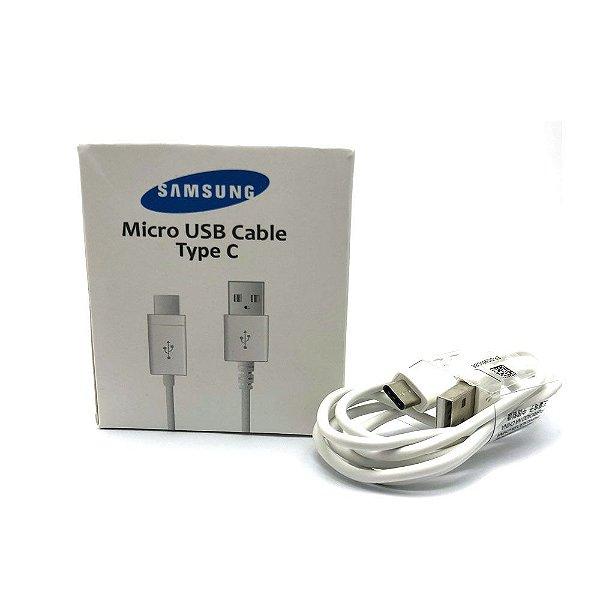 Cabo usb Samsung Tipo C Branco Caixa