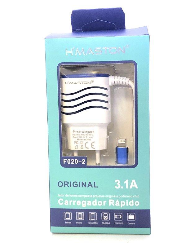 Carregador HMASTON F020-2 BRANCO iphone ipad ipod