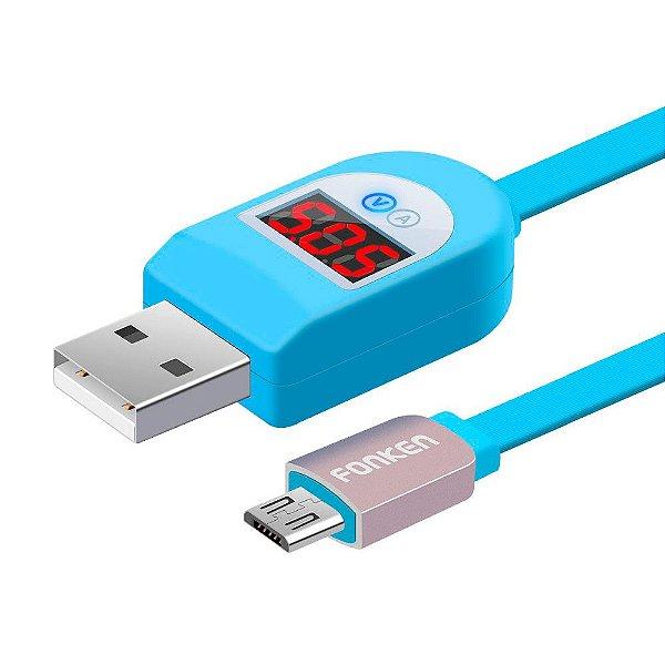 Cabo Medidor de Tensao Micro USB Fronken