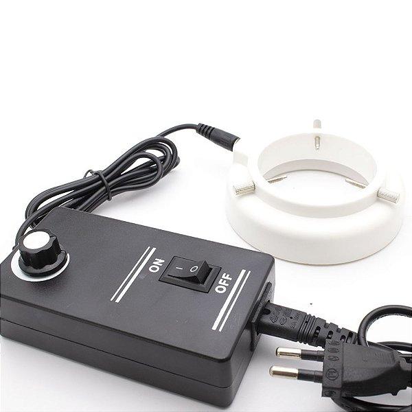 Lampada para Microscopio 56 LED Anel Ajustável Branca Bivolt
