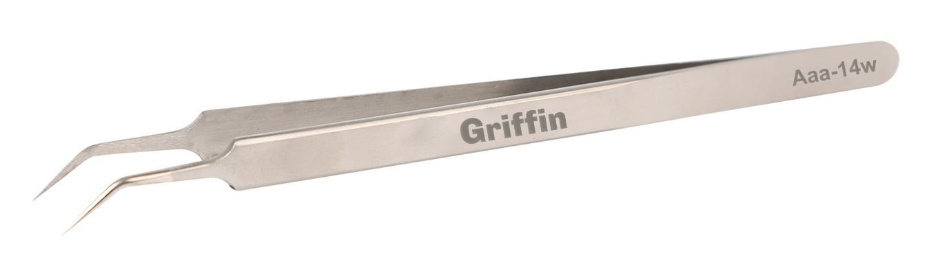 Pinça Curva Aço Inox Griffin Aaa 14w Alta Qualidade Prata