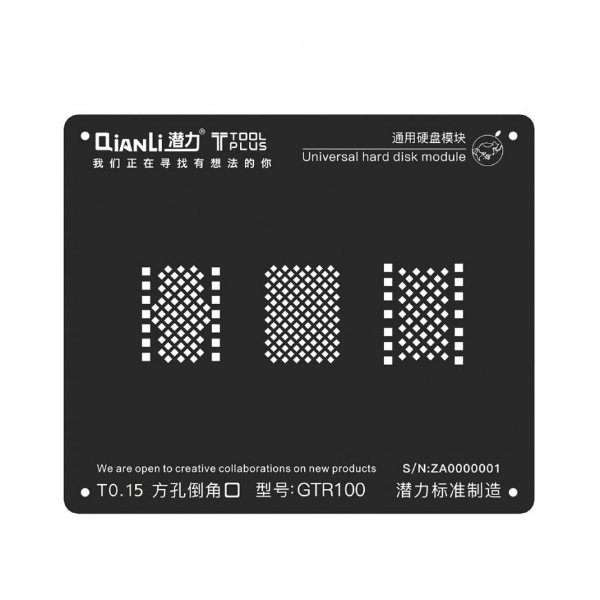 Stencil Black GTR100 Hard Disk Nand Iphone 6 6s 7 8 Qianli