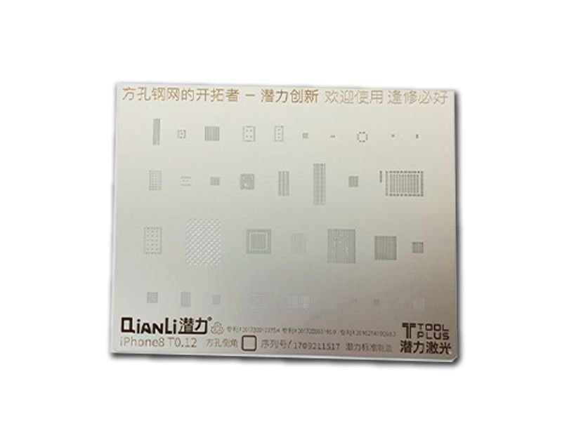 Stencil Iphone 8 3D Quianli T0 12