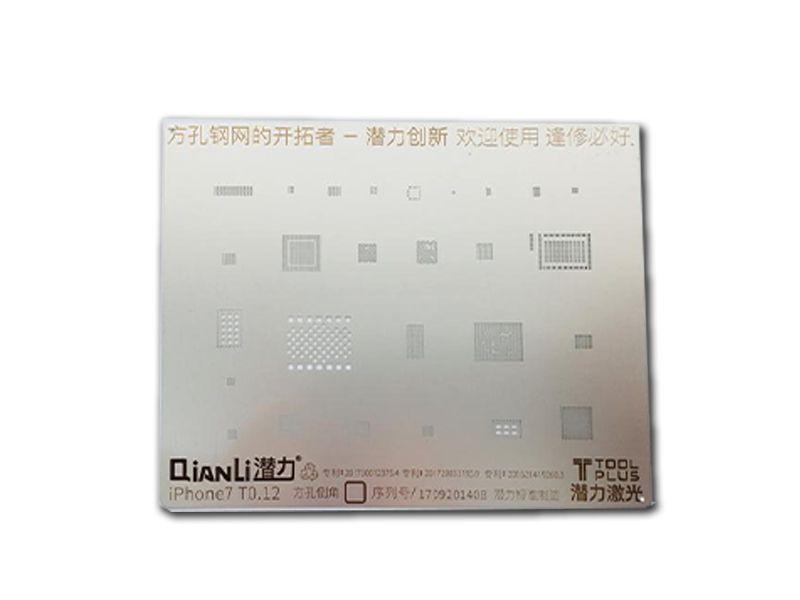Stencil Iphone 7 3D Quianli T0 12