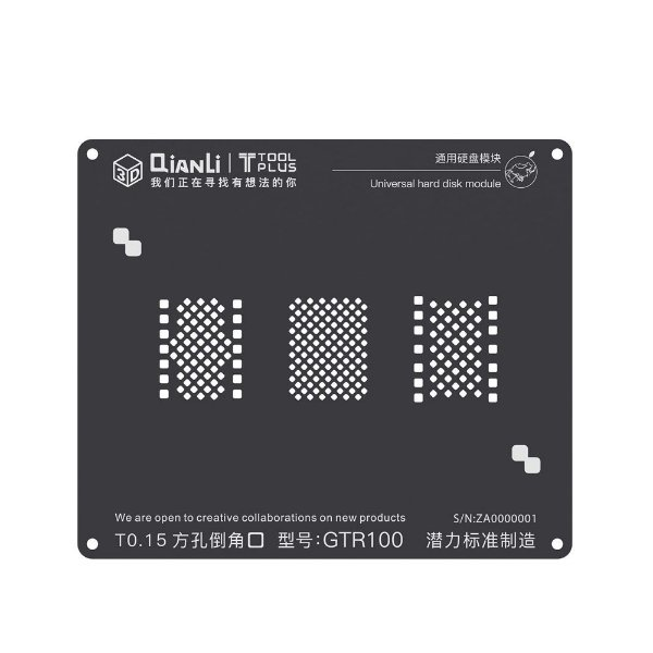 Stencil 3D Black GTR100 Hard Disk Nand Iphone 6 6s 7 8 Qianli