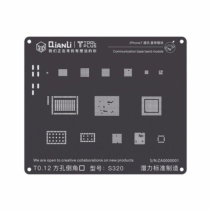 Stencil 3D Black Base Band iPhone 7 Qianli