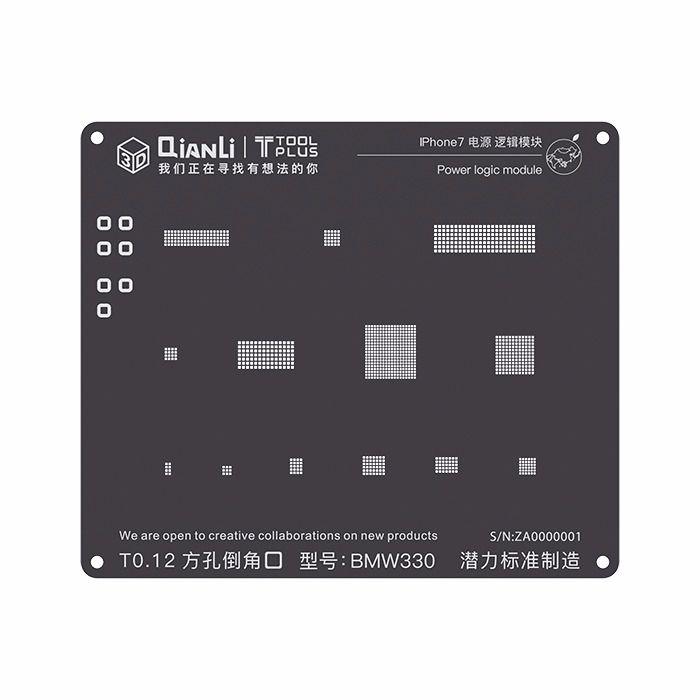 Stencil 3D Black Power Logic iPhone 7 Qianli