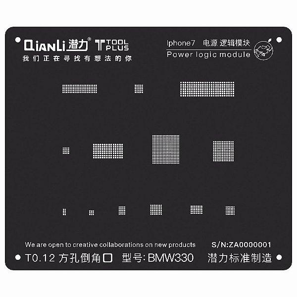Stencil Black Power Logic iPhone 7 Qianli
