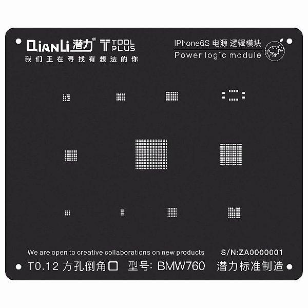 Stencil Black Power Logic iPhone 6S Qianli