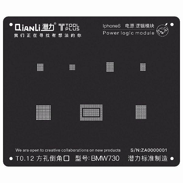 Stencil Black Power Logic iPhone 6 Qianli