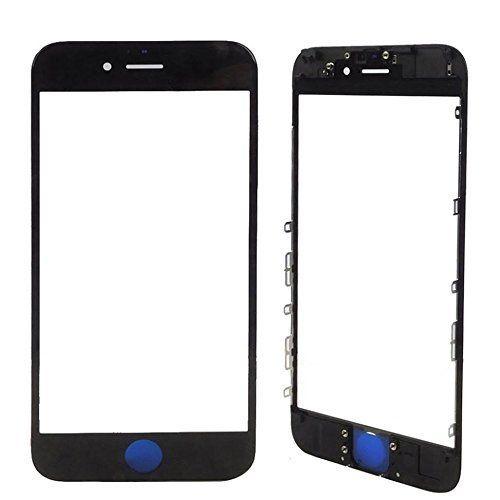 Vidro Frontal Iphone 7Plus 5.5 Preto Com Moldura
