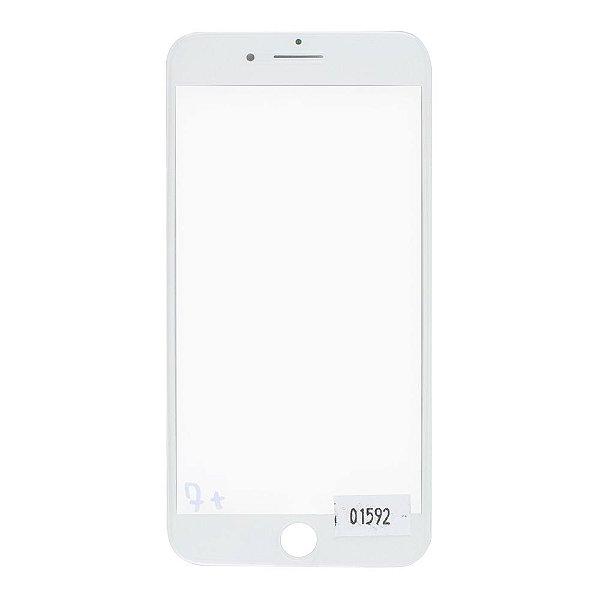 Vidro Frontal Iphone 7Plus 5.5 Branco Com Moldura