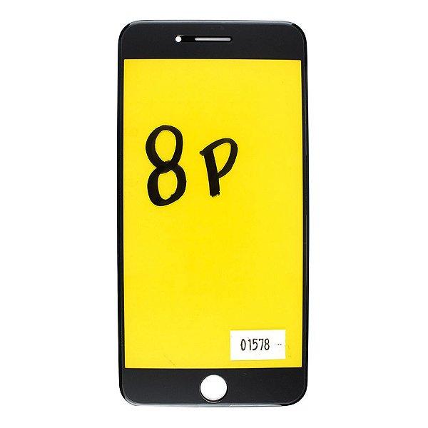 Vidro Frontal iPhone 8Plus 5.5 Preto