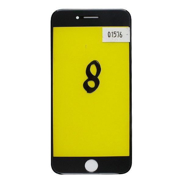 Vidro Frontal iPhone 8 4.7 Preto