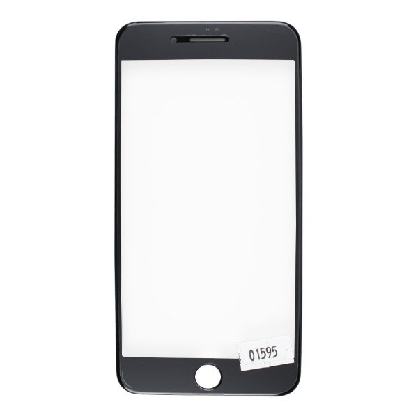 Vidro Frontal Iphone 8Plus 5.5 Preto Com Moldura