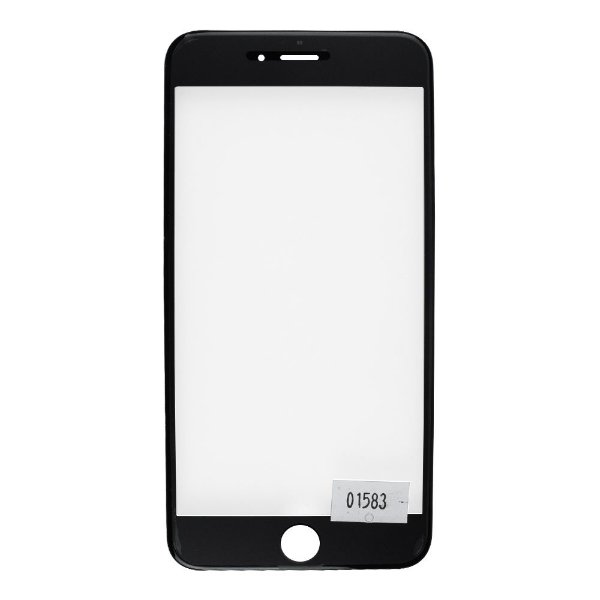 Vidro Frontal Iphone 6Plus 5.5 Preto Com Moldura