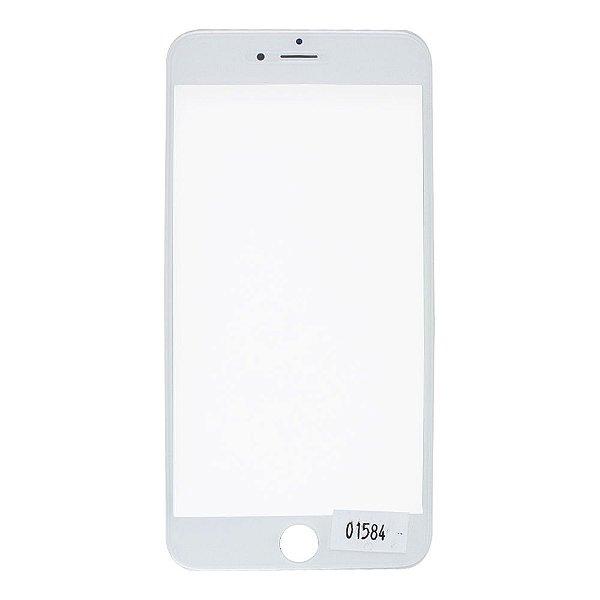 Vidro Frontal Iphone 6Plus 5.5 Branco Com Moldura
