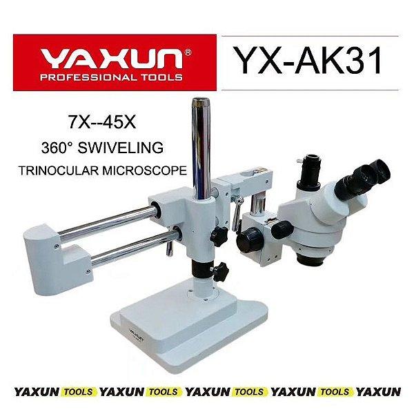 Microscopio Trinocular Yaxun Ak 31