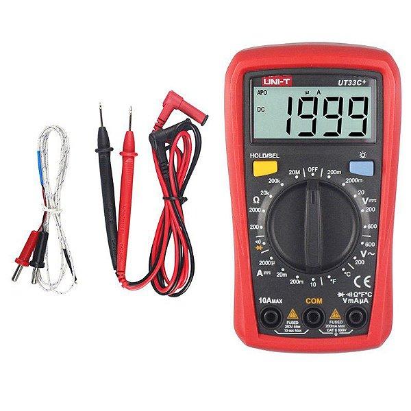 Multimetro Digital Uni-t UT33C+ 33C+