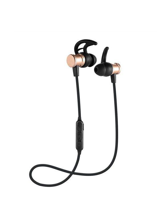 Fone ouvido Hmaston Intra Auricular Bluetooth sls100 dourado