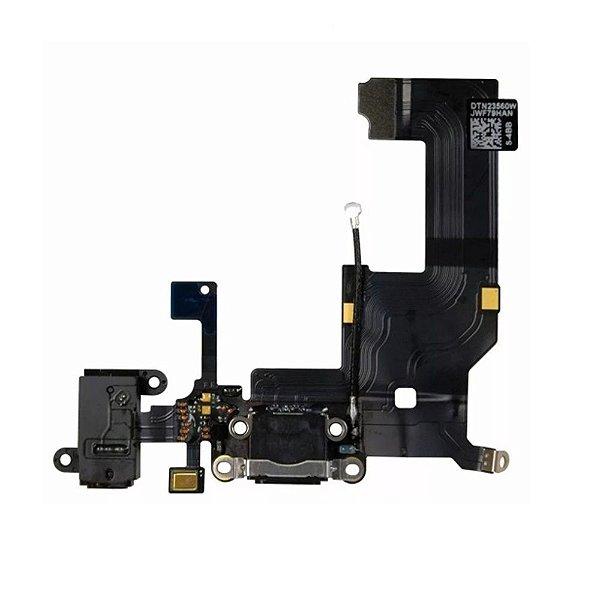 Flex conector de carga iPhone 5G Preto