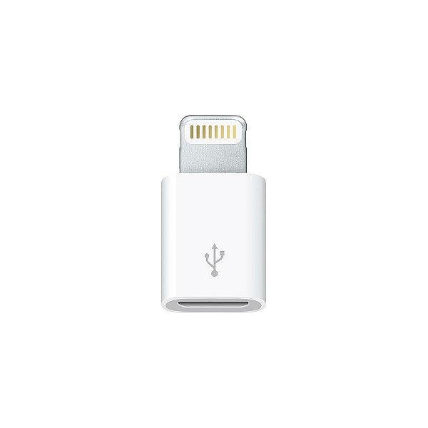 Conector adaptador lightning iphone entrada v8 micro USB